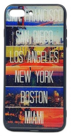 Husa UV Glass Silicone Huawei P20 Lite Cities